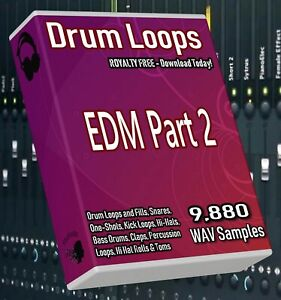 EDM Drum Loops Part 2 EDM Beats! FL Studio Ableton Cubase