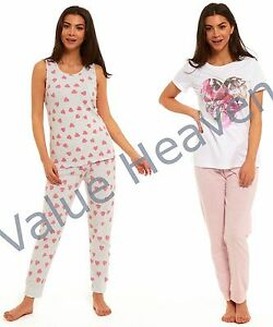 filles-100-pyjama-coton-EX-MARKS-AND-SPENCER-coeur-M-amp-S-T-SHIRT-BLANC-GRIS-gilet