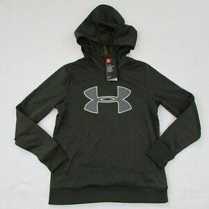 Under-Armour-Womens-Sweatshirt-Pull-Over-Hoodie-1317890-358-Dark-Green-Small
