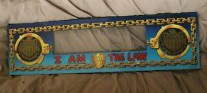 Bally Williams Judge Dredd original plastic pinball machine speaker panel