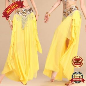 Details about New Plus size Sexy Belly Dance Costume Dance Skirt Carnival  dress up slit skirt