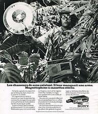 PUBLICITE ADVERTISING 104  1974  SONY   magnétophone à cassette TC 152SD