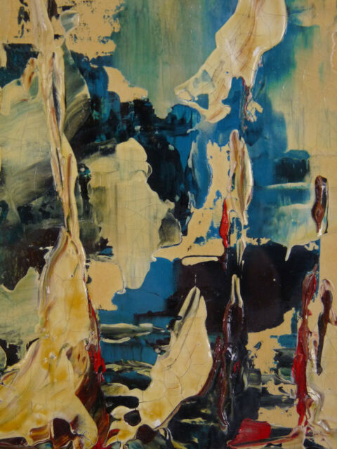 Eduardo de Soto (1917) Oil/Paper Signed Painting Abstract Abstract Painting