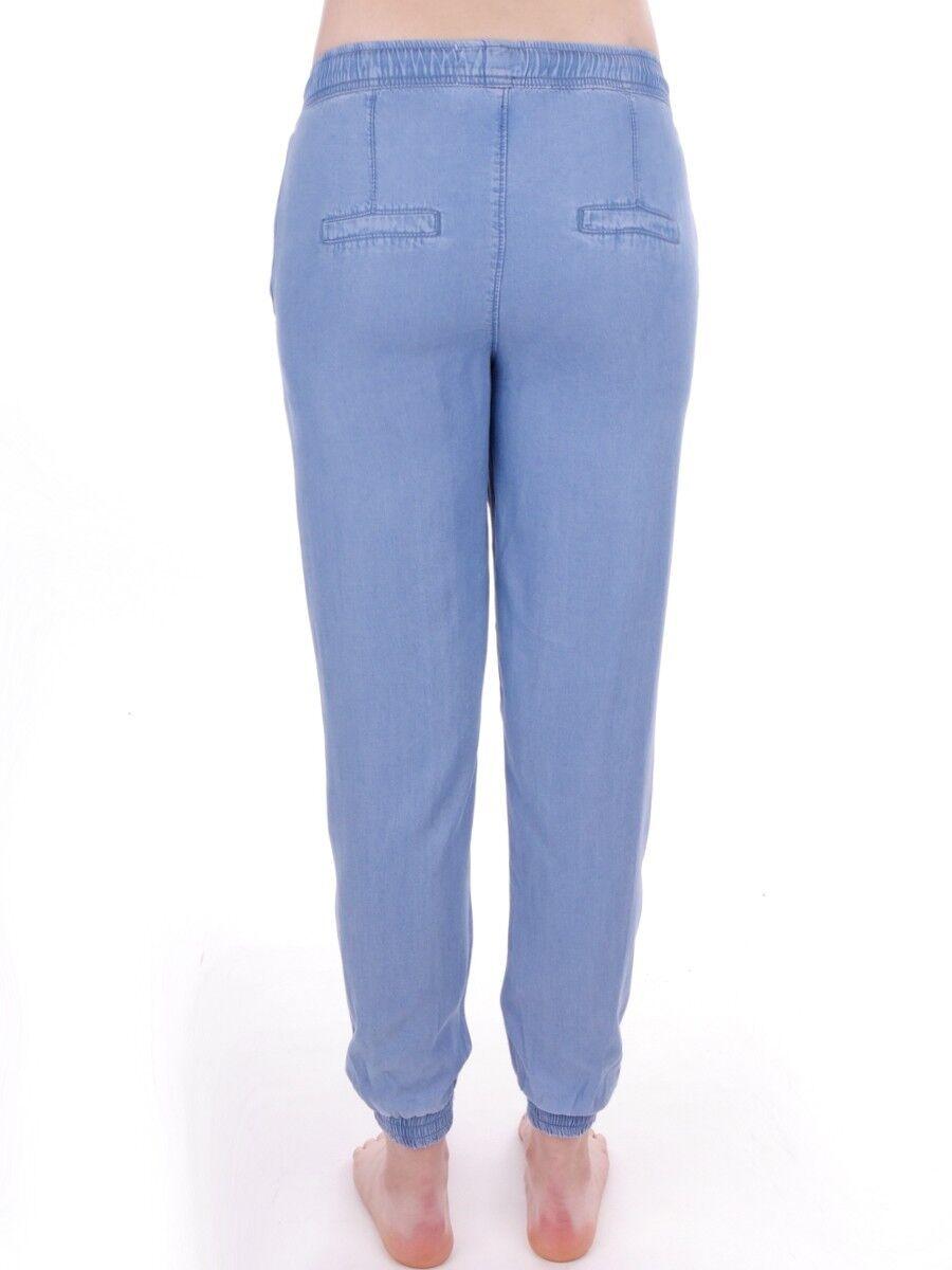 YOGAJeans YOGAJeans YOGAJeans Jeans Stoffhose Sporthose blau Tunnelzug Taschen leicht 5959ff