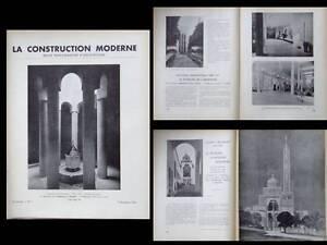 Construction Moderne 1937 Exposition 1937 Pavillon Pontifical Argentine Roumanie Une Gamme ComplèTe De SpéCifications