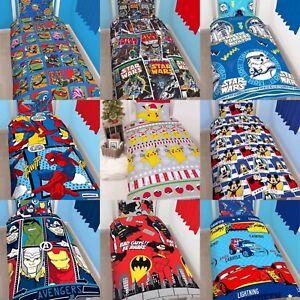 Boys Character Single Quilt Duvet Cover Pillowcase Bedding Sets