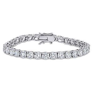 Amour Sterling Silver Cubic Zirconia Tennis Bracelet