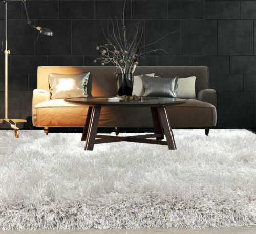 Shaggy Rug SHIMMER SPARKLE GLITTER 7.5cm Thick Soft Pile Large Living Room Rugs