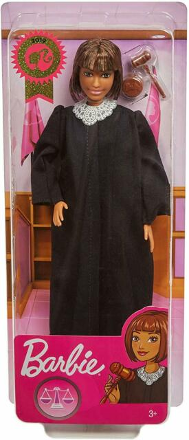 BARBIE CAREER OF THE YEAR JUDGE DOLL SHORT BROWN HAIR FXP44   *Nu*