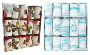 Box-Of-10-Large-14-034-Christmas-Crackers-Assorted-Designs-Luxury-Gift-Dinner-Party