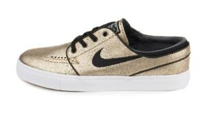 size 40 a3aa3 b3a06 Image is loading Nike-ZOOM-STEFAN-JANOSKI-L-Metallic-Gold-Black-