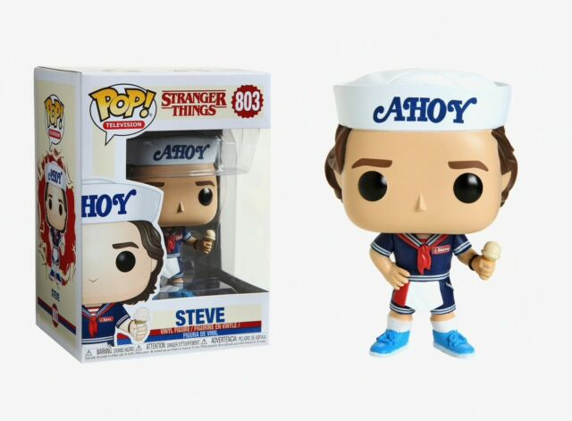 FUNKO POP Steve w// Hat /& Ice Cream w// Protector Stranger Things TELEVISION