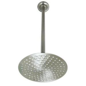 "Polished Brass 10/"" Diameter Large Raindrop Shower Head W// 17/"" Wall Mount Arm"