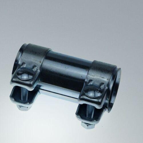 Rohrverbinder für Ø 61mm Auspuffrohr Länge 90mm verzinkt