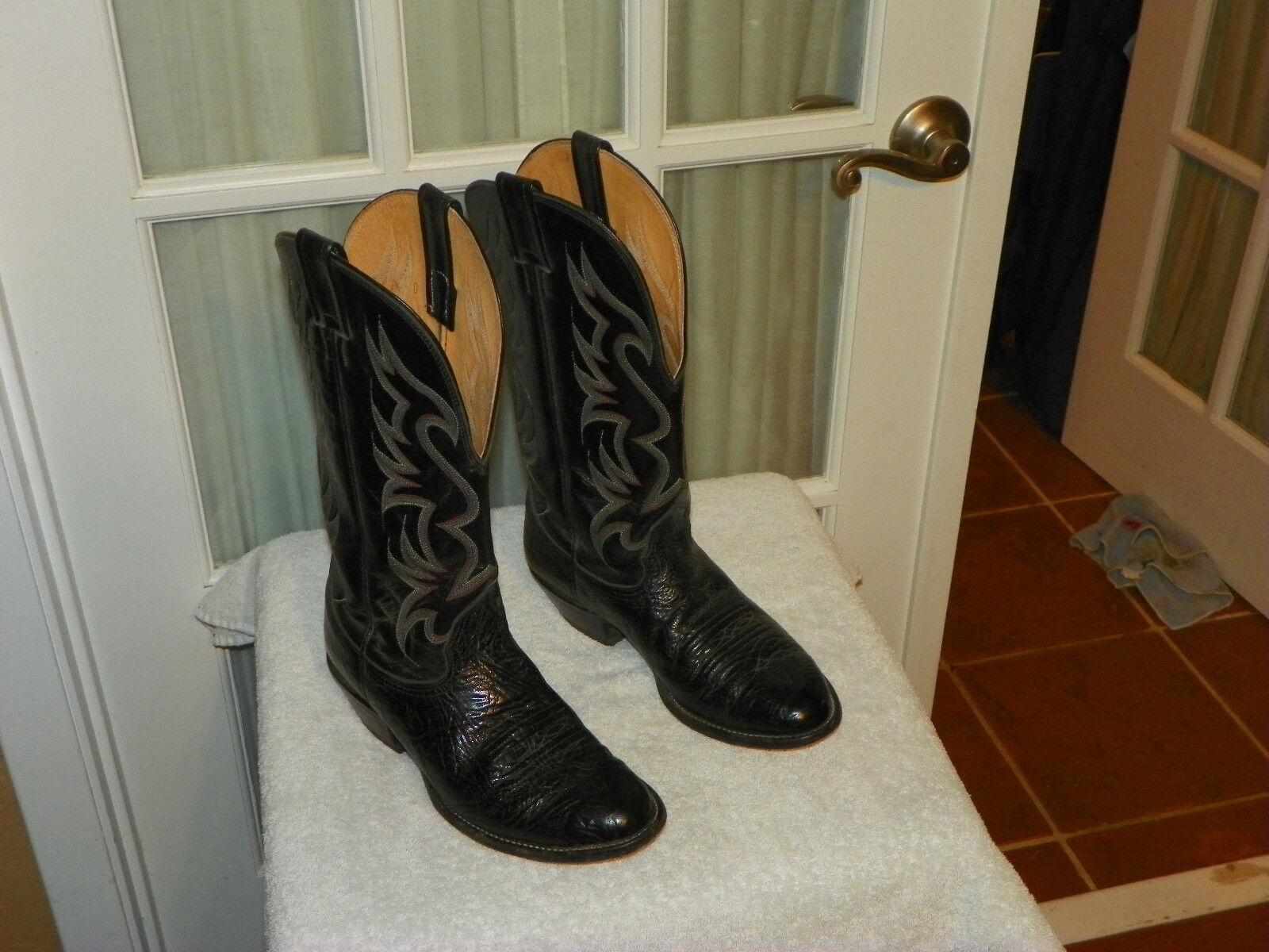 NOCONA para occidental hombres D Bullhide occidental para de cuero negro botas de vaquero hecho en EE. UU. 070c90