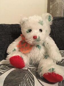 beanie babies Ty Punkies Christmas tree Bear soft cuddly toy 35cm ... ff07bb6a0bfe
