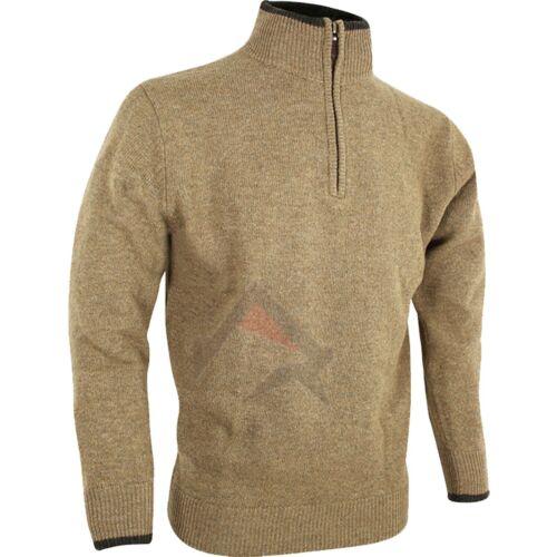 Jack Pyke Ashcombe Zip Neck 100/% Lambswool Jumper Hunting//Shooting//Game Keeper