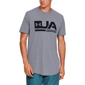 Under-Armour-Herren-UA-Sportstyle-Drop-Hem-Short-Sleeve-T-shirt-Grau-1329617