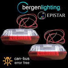 FOR VOLKSWAGEN TOUAREG SHARAN 2011- 18 LED FRONT DOOR LIGHT RED/WHITE LAMP PAIR