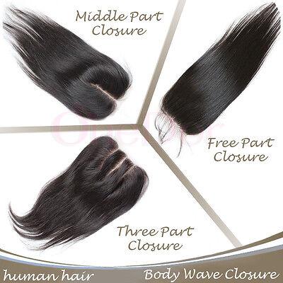 OneDor 100% Brazilian Virgin Remy Human Hair Straight Lace Top&Silk Base Closure
