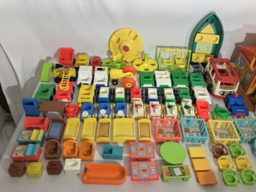 Fisher Price Vintage Little People Furniture /& Accessories Your Choice
