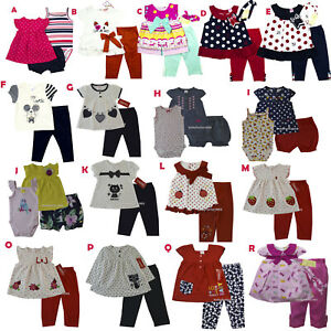 34f8b87f9 New Carter's Baby Girls Outfit Clothes 2 pcs top legging 3 6 9 12 18 ...