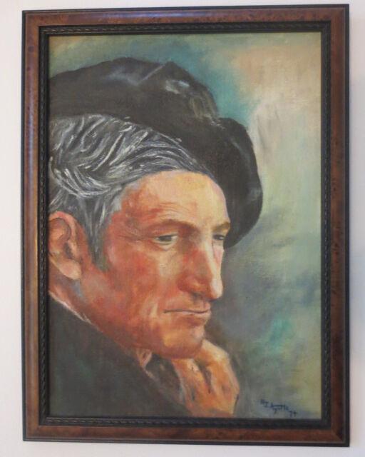 Handsome Gentleman Beard Oil Painting