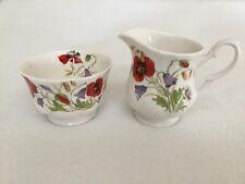 Roy Kirkham English Meadow Poppy Flower Colazione Tazza e piattino Porcellana fine Bone China by