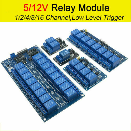 1-8 Channel Relay Module Board For Arduino Raspberry Pi ARM AVR DSP PIC 5V//12V