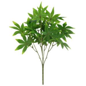 Eg-Zimmerantenne-Kuenstlich-Gruen-Ahornblatt-Gefaelschte-Pflanze-Blume
