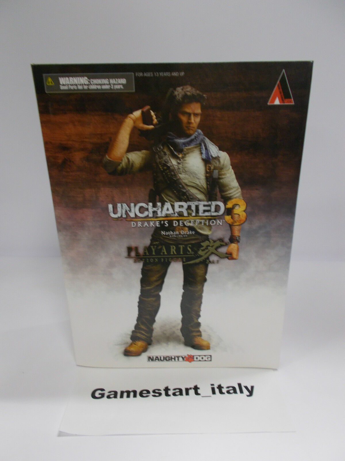 ACTION FIGURE NATHAN DRAKE UNCHARTED 3 - NEW - RARE - PLAY ARTS SQUARE ENIX