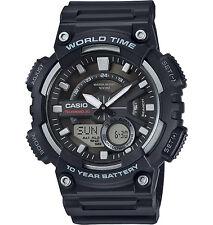 Casio Men's Databank 30 Watch, 100M, 3 Alarms, Chronograph, Resin, AEQ110W-1AV