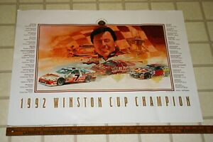 1992-FULL-COLOR-NASCAR-POSTER-CHAMPION-ALAN-KULWICKI-HOOTERS-LARGE-22-X-38