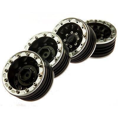 """4Pcs Aluminum 1.9"""" Beadlock Felgen Wheel rims for 1/10 RC Crawler Axial SCX10 #8"""