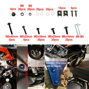 Pour-Yamaha-YZF-R1-2007-2008-Moto-Vis-Complet-Kit-Boulon-De-Carenage