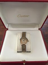 Must de CARTIER 21 Two Tones SS/18k Gold Plated Ladies Watch.