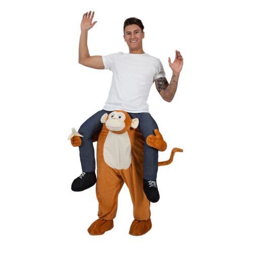 Piggy Back Cheeky Monkey Halloween Chimp New Mascot Fancy Dress Costume Carry Me