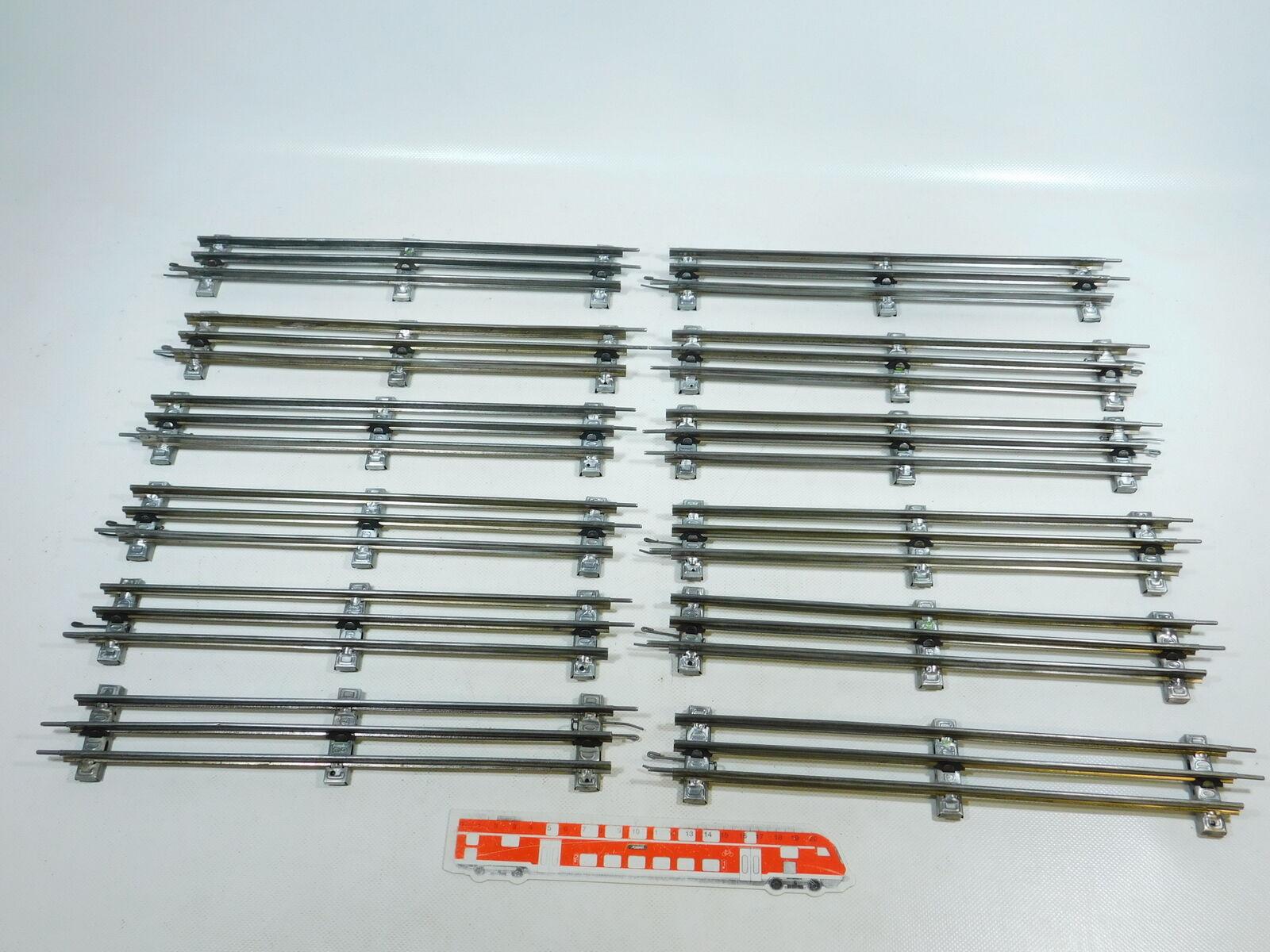 Bw94-2 x Märklin Traccia 0 Pezzo Pista Dritto (32 cm) per Elettrico Utilizzo
