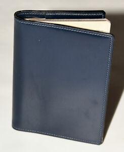Pflichtbewusst HermÈs Paris Agenda Dunkel Blau Weiches Leder Mit Agenda Von 1963 Memo Etui Kleidung & Accessoires Damen-accessoires
