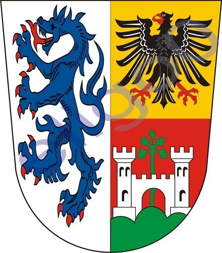 1x STICKER Landkreis Traunstein GERMANY COAT OF ARMS