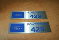 Ford Powered By 429 Valve Cover Decals Pair Mustang Torino Lincoln Tbird All