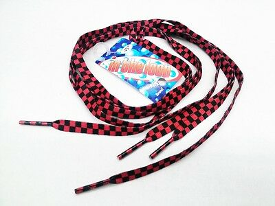 """Shoelaces 45"""" Checkers Checkered Racing Cross Emo Punk Skull ***FREE SHIPPING***"""