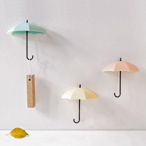 Eg /_ 3x Mini Schirm Wandhaken Schlüssel Wandbehang Schlüsselring Halter