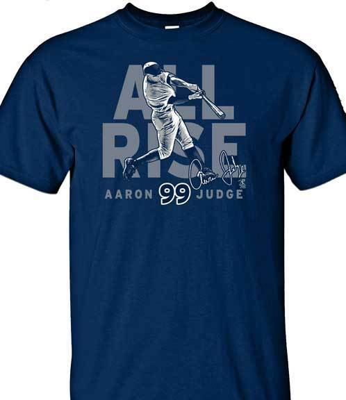Brand New MLBPA Men's New York Yankees Aaron Judge #99 All Rise  Navy T-Shirt 2X
