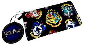 Off-Harry-Potter-Damen-Geldboerse-Portemonnaie-Clutch-Geldbeutel-Schwarz-Primark
