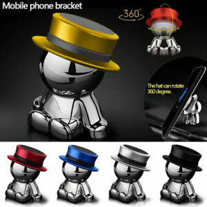 360-Rotation-Hat-Man-Car-Magnetic-Holder-Mount-Dashboard-Stand-Mobile-Phone-Hot