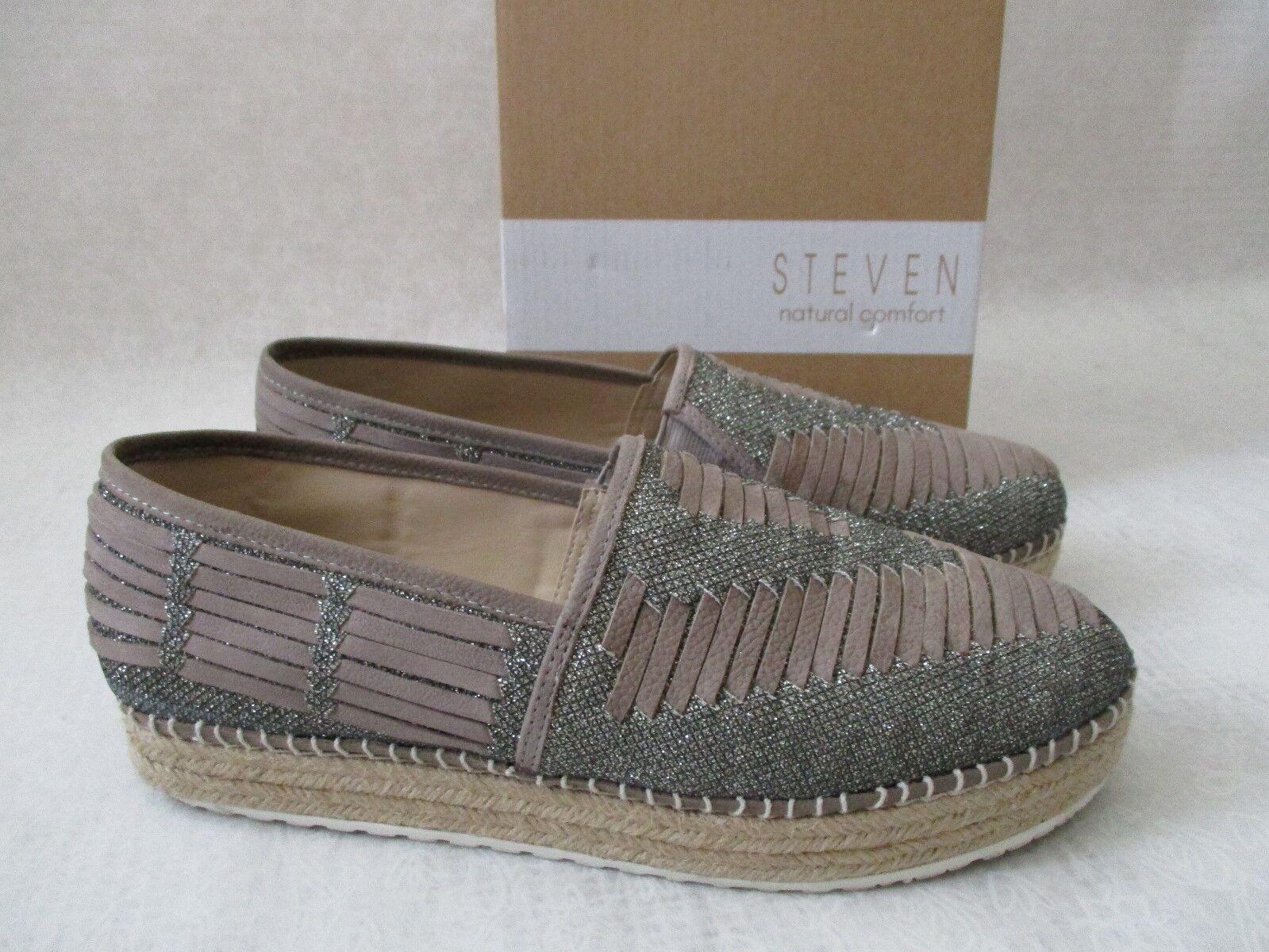 STEVEN BY STEVEN MADDEN GRAY NC-CHARM FLAT Schuhe SIZE 9 M - NEU W BOX