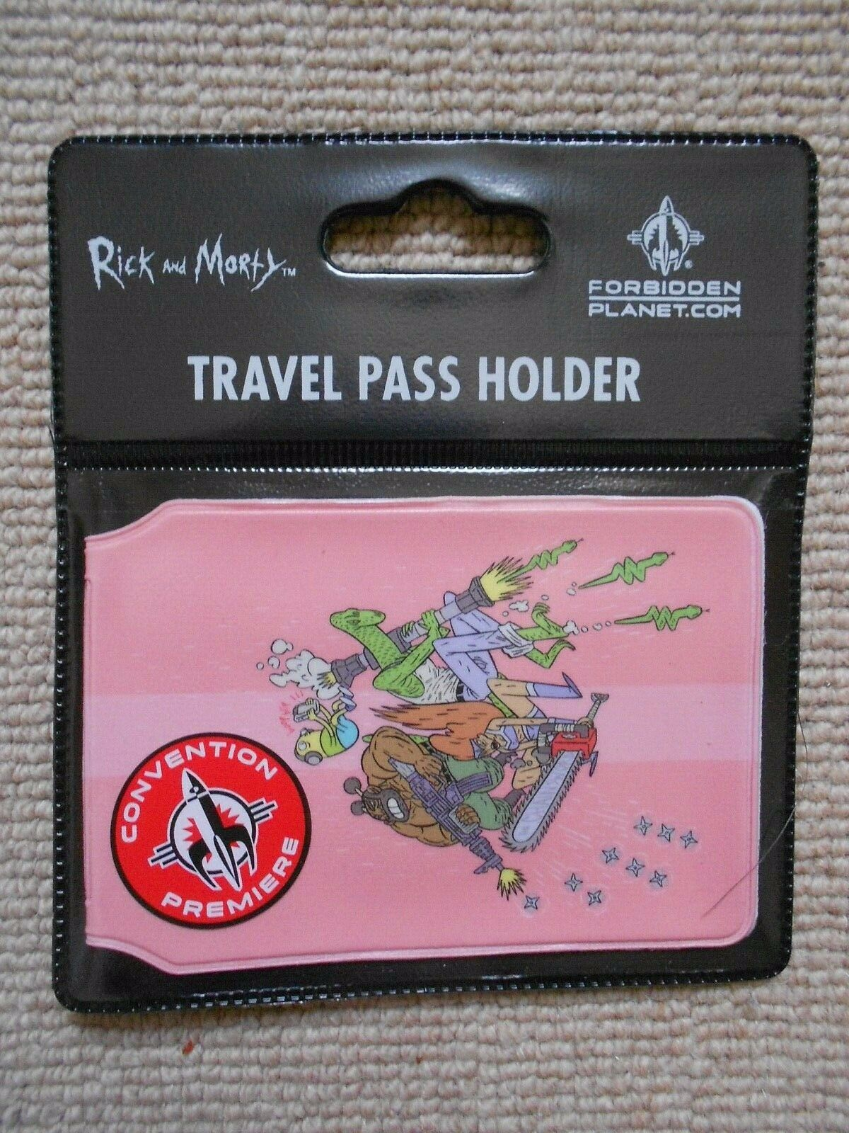 RICK AND MORTY BALL FONDLERS . ID CARD HOLDER TRAVEL TRAIN OYSTER CARD HOLDER