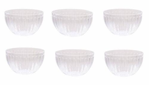 Lot de 6 Roma ® crystal clear small Dessert//côté bol acrylique-Vaisselle