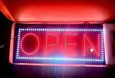 Open Animated Led Sign X Large 34 X 14 3 Setting Brand New